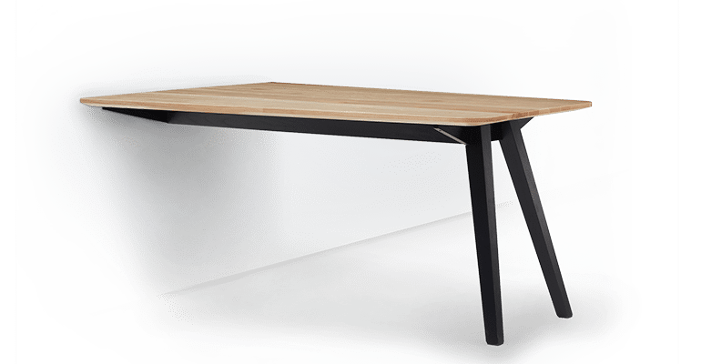 TB Ikon Collaborate Table Clear on Eclipse Angled with Wall