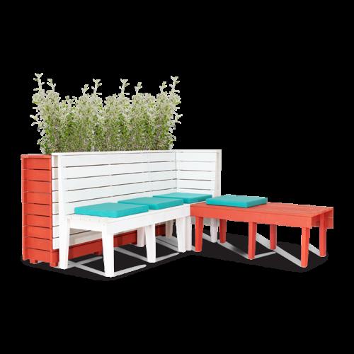 BA Season Banquette planter bench seat setting web