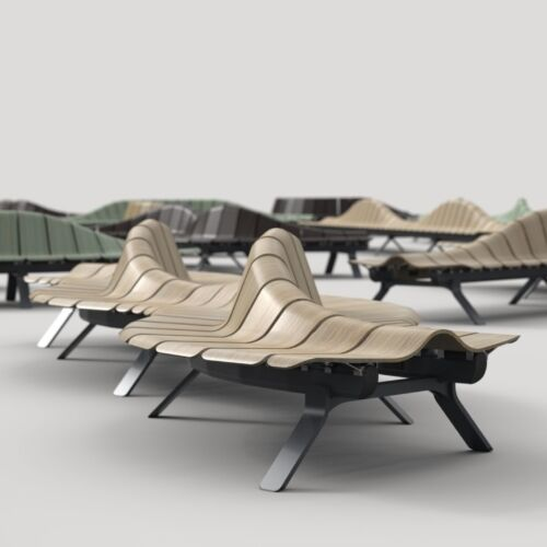 Ascent Beam Seater Airport Bench Gate Seating  scaled
