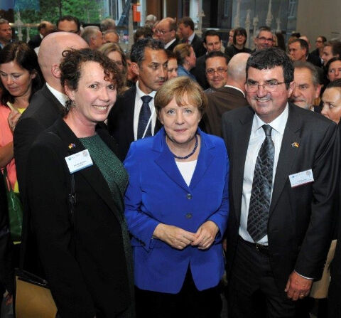 state visit Erich Bachmann and Chancellor Angela Merkel