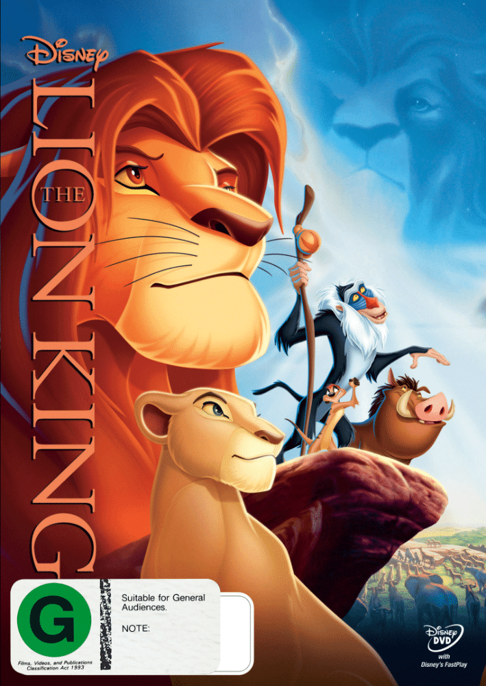 The Lion King DVD 2D Packshot