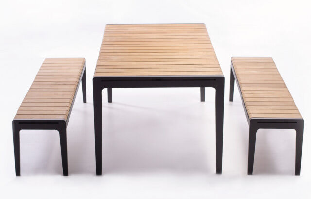 Marbella Teak Table With Bench Seats Outdoor Furniture