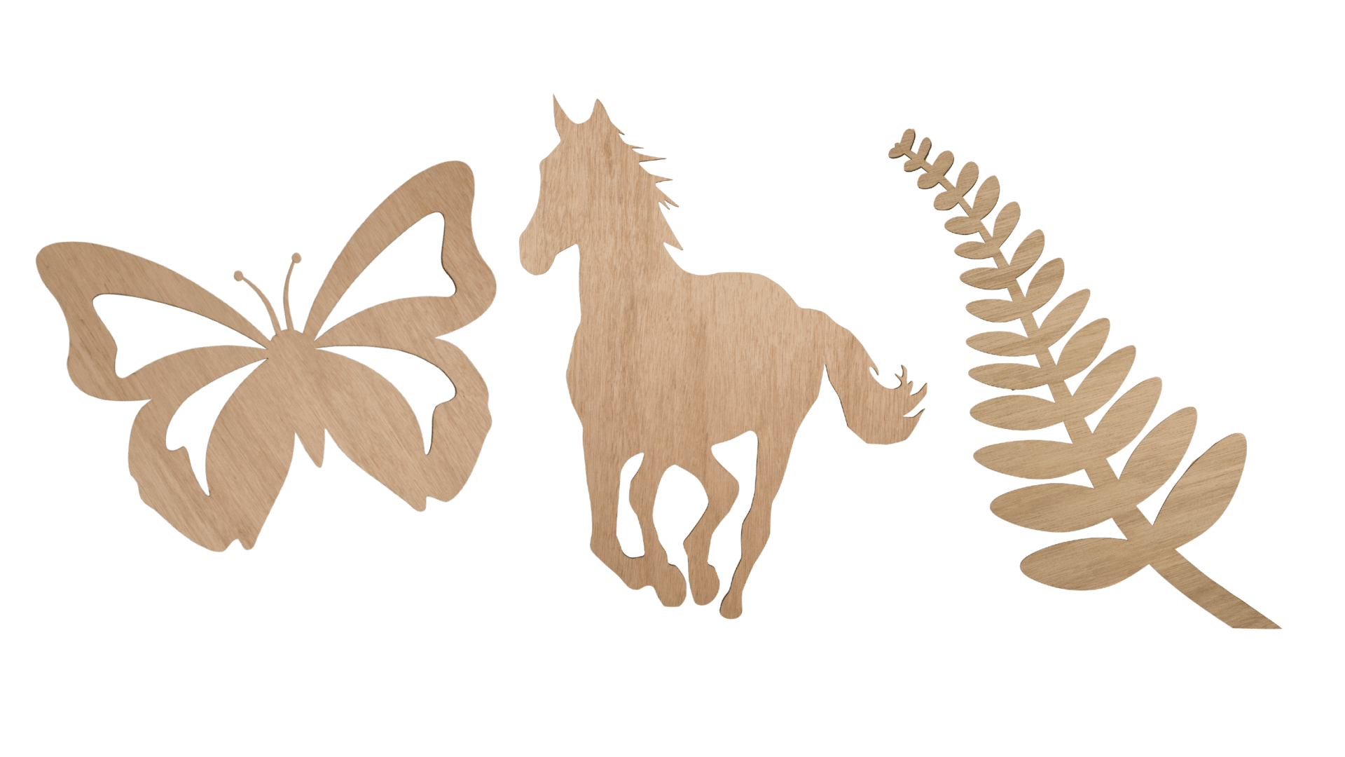 Butterfly, horse and fern