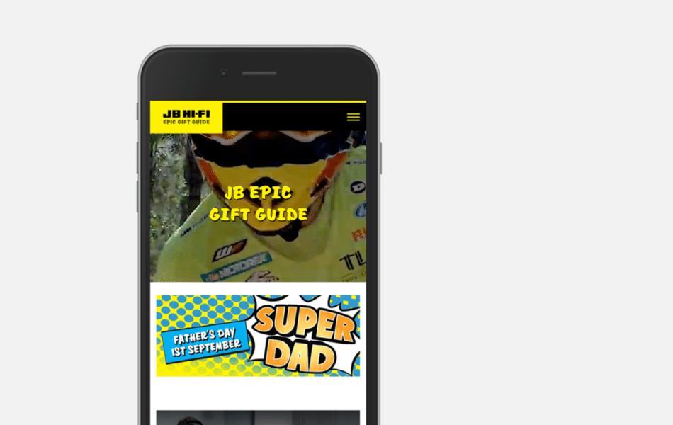 Gift guide mobile eCommerce website design