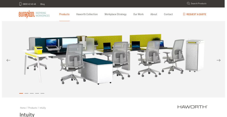 ss europlan website redesign product details dt
