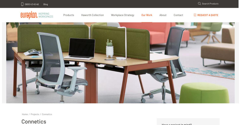 ss europlan website redesign project details dt