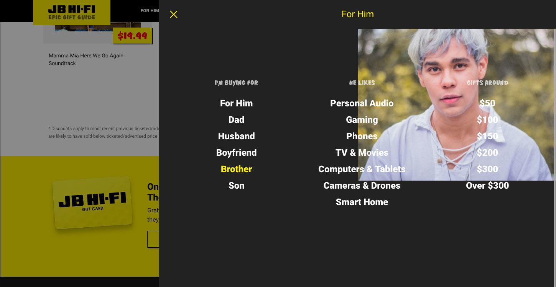 ss jbgiftguide website design for him dt