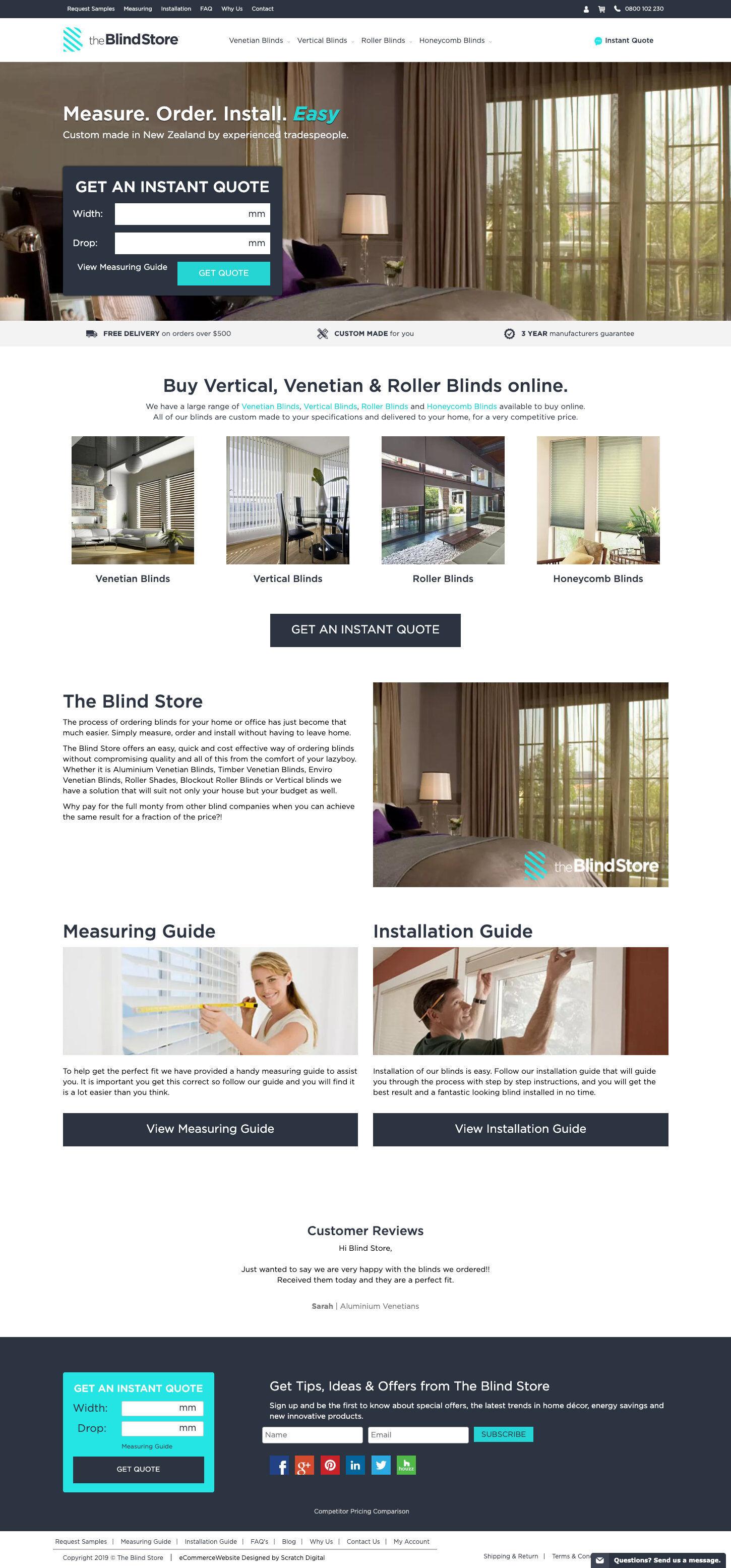 ss theblindstore ecommerce website design home dt