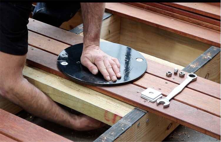 How to install a cantilever umbrella on a deck