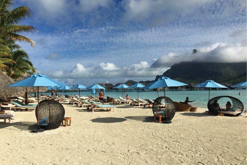 Four Seasons Bora Bora Venice Outdoor Umbrella