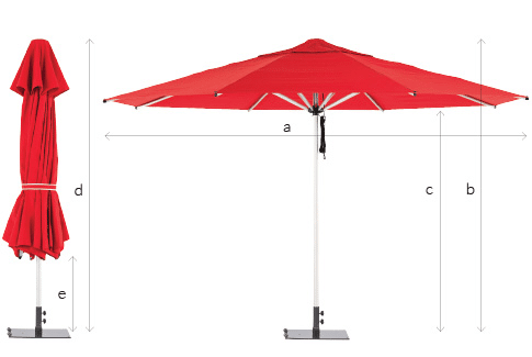 Monaco Outdoor Umbrella Specs
