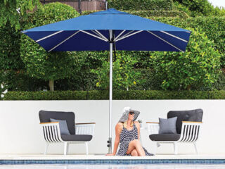 Navy Blue Square Outdoor Umbrellas