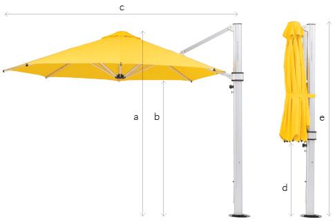Riviera Cantilever Umbrella Specs