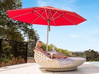 Milan Red Outdoor Sun Umbrella