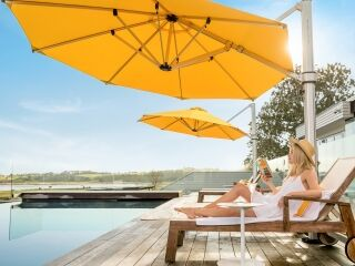 Riviera Cantilever Umbrella Yellow