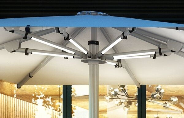 Tempest Commercial Umbrellas with LED Lights