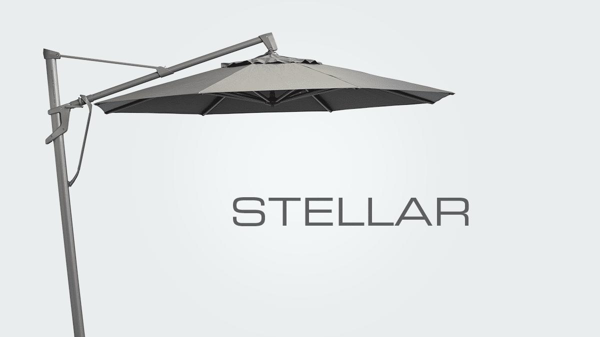 stellar cantilever umbrella word mark hero