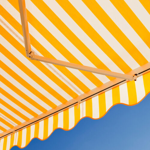 Attractive awning against blue sky