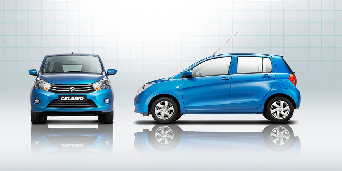 celerio front and side view