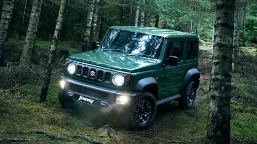 jimny in the woods