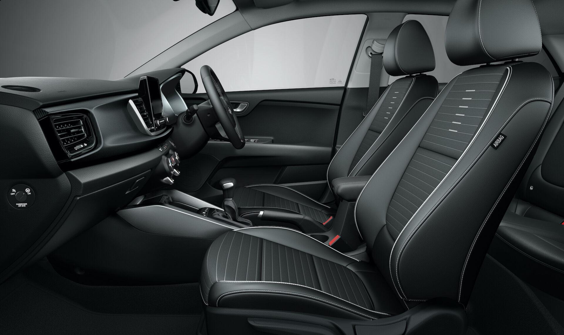 kia rio gt line my rhd interior ex optional grade saturn black artificial leather