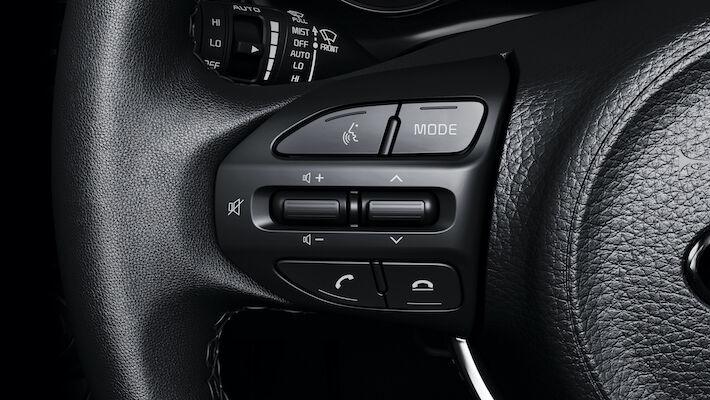 kia rio steering wheel controls detail