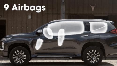 mitsubishi pajero sport airbags