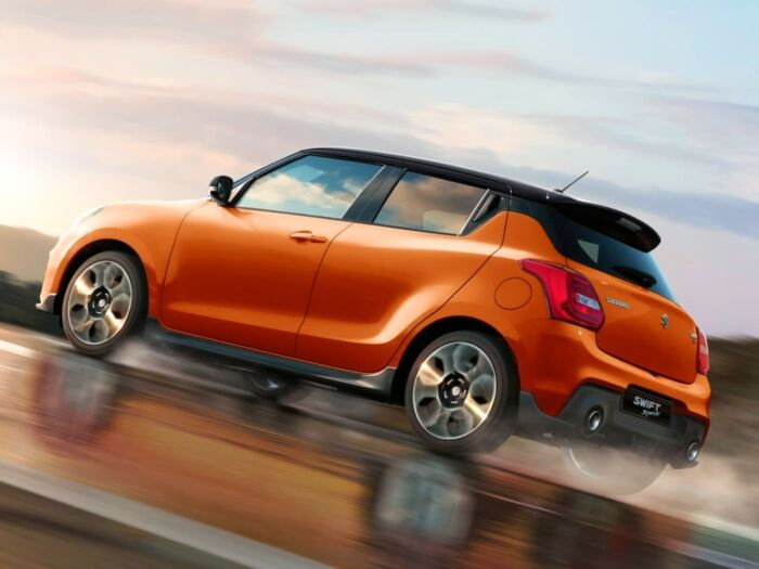 suzuki swift sport driving uphill